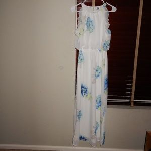 Old Navy White/Blue Floral Maxi Dress